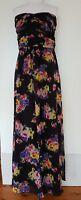 REVIEW Black Floral Maxi Dress Size 14.