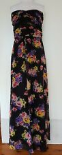 REVIEW Black Floral Maxi Dress Size 14.