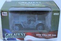 Auto World 1:18 Scale WWII Willys MB Jeep Die-Cast Metal Replica AWML002/12B