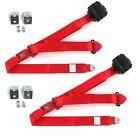 AMC Gremlin 1970 - 1979 Standard 3pt Red Seat Kit w/Brackets-2 Belts  for sale