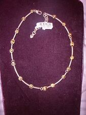 "Brighton NWT! ""Monte Carlo"" Gold Color Necklace With Swarvoski Crystals Stations"