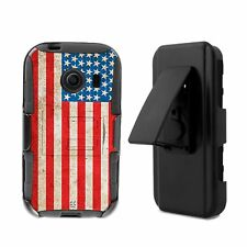 For Galaxy Ace Style S765 Hybrid Armor Belt Clip Shock Fusion Case USA Flag