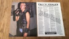 JUDAS PRIEST 'FAITH HEALER'  3 page 1985 ARTICLE / clipping