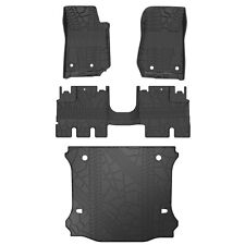 Oedro Tpe Floor Mats & Tray Cargo Liners fit for 2014-2018 Jeep Wrangler Jk