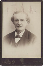 CABINET CARD, IMAGE OF OLDER GENTLEMAN WITH AN INTENSE STARE.  YORK PA.