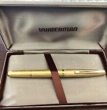 Vintage Waterman Gentleman Fountain Pen Plaque ORG - 18K 750 Gold Nib.