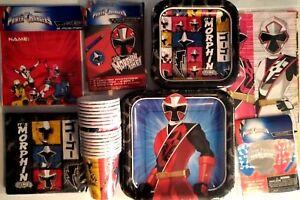 Power Rangers Ninja Acciaio Compleanno Festa Supply Super Decorazione Kit Con /
