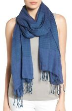 NWT Eileen Fisher Airy/Linen/Cashmere Stripes Denim Scarf OS /TU