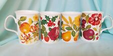 Roy Kirkham Covent Garden Fine Bone China Set of 4 Mugs 1996 made in England EUC
