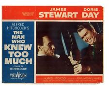 JAMES STEWART DORIS DAY ALFRED HITCHCOCK'S THE MAN WHO TO MUCH  LOBBY CARD #1814