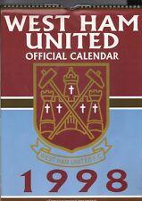 WEST HAM UNITED F.C. 1998 OFFICIAL CALENDAR