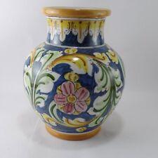 Vaso  portafiori soprammobile decorato a mano in ceramica di Caltagirone h 25 cm
