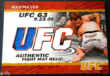 2009 Topps UFC JENS PULVER Used Event Fight Mat 2-Color Relic #FM-JP #ed 160/199