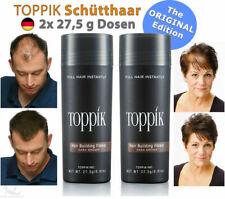 2x TOPPIK Hair Building Fibers Streuhaar Schütthaar • DUNKELBRAUN / DARK BROWN