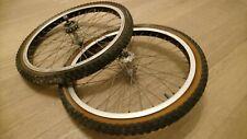 old school VINTAGE araya 7x  20 × 1.75 wheels Suntour hubs Suntour freewheel