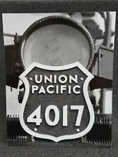Union Pacific No.4017 Big Boy Front Plate Photograph - 14 x 11