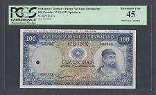 Portuguese Guinea 100 Escudos 17-12-1971 P45s Specimen Extremely Fine