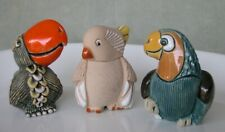 Artesania Rinconada 3 birds: Papagayo, Parrot Toucan, Cockatoo - all retired