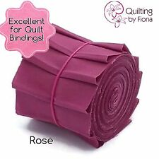 "10 x 2.5"" Rose Pink Jelly Roll PreCut Strips, 2.5 inch x WOF, Die Cut"