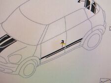 New Mini Paceman R61 Full set Door trim Vinyl stripes black 51149810695 696 MN6
