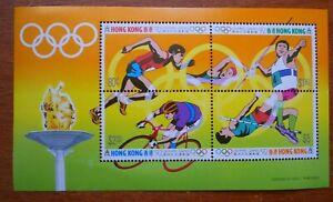 Hong Kong mini sheet - Olympic Games (1992)