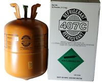 R-407C with POE Oil install R22 replacement refrigerant 25 Lb Cyl New! #9980