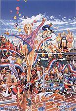 "Hiro Yamagata       ""The Gymnast""       Serigraph on Paper   BA"