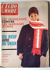 Magazines L'ECHO DE LA MODE n°43 du 23/10/1960; Patron Robe passe partout