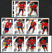 1993-94 Panini Canadiens Regular Issue Stickers Proof Panel Team Set (10)