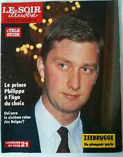 Le Soir illustré du 19/03/1987 Le prince Philippe / Zeebruge