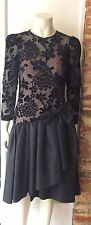 Vintage RADLEY BLACK COCKTAIL DRESS SIZE 10