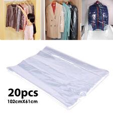 """Nuevo 20 un. 40"""" cubiertas de ropa envase de plástico transparente bolsas de tintorería ropa Reino Unido"""