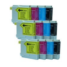 12x Ink Cartridges LC970 LC1000 Compatible For Brother MFC-235C 240C 260C 3360C