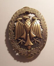 German Armed Forces Badge for Military Proficiency Grade I Bronze Tone