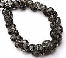 "Natural Gem Super Quality Sri Lankan Black Rutile Onion Shape Briolette Beads 9"""