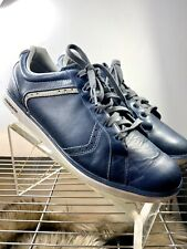 Ashworth Cardiff Blue Sz 11.5 Leather Spikeless Golf Shoe Men Sneakers Trainers