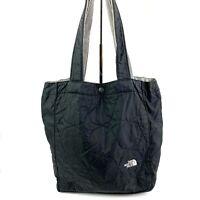 The North Face Tote Bag Small Black Nylon Handbag Purse Shoulder Straps