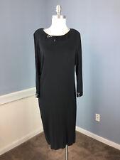 Ann Taylor S 6 Black Sheath Dress Sequin long sleeve Career Cocktail Sequin EUC