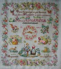 French Cross Stitch Anaïs Curveur 1896 kit chart. linen. threads