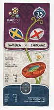 Orig.Ticket  EM POLEN / UKRAINE 2012   SCHWEDEN - ENGLAND // Spiel 15  !! TOP