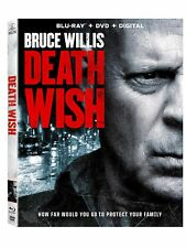 DEATH WISH (Blu-Ray + DVD + Digital 2 Disc Pack) 2018 w/SLIP COVER **FREE SHIP**