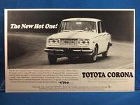 Vintage Magazine Ad Print Design Advertising Toyota Corona