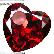 4.75Cts Lovely Hearts Shape Natural Garnet 10mm  Loose Gemstone From Africa