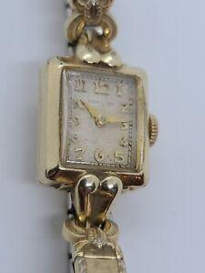 Antique Working 1940's HAMILTON Art Deco 14KT Gold Filled GF 17J Ladies Watch
