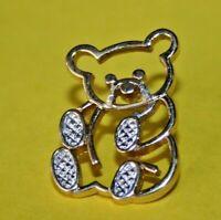 Pin's lapel pin pins Ours bijou Ourson doré avec pattes argenté Bear cub Signé