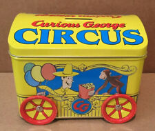 Curious George Circus Tin Bank Vintage New