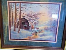 Lee K. Parkinson Home Interior Winter Scene Ice Skating Print