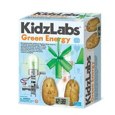 KIDZ LABS GREEN ENERGY - KIDS ELECTRICITY SCIENCE & ACTIVITY KIT 4M TOYSMITH