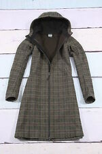 TATONKA wolle seide outdoor mantel tweed check coat