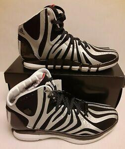 Adidas Derrick D Rose 4.5  Sneakers ZEBRA  black Silver mens u.s. 8.5 DS